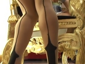 2 Hot Women with Strapon in Stockings