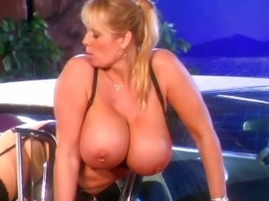 Massive tits stockings lesbians by the car
