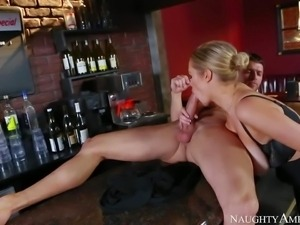 Curvy drunk lady Katie Kox with bubble butt and huge tits feels horny at the...