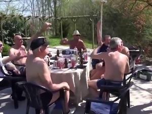 Teen sex machine handling 8 old cocks in gangbang
