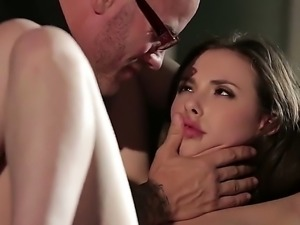 In this video we see the gorgeous Casey Calvert get all tied up. She lays on...