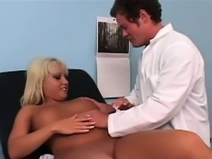 As Jug-licious Jasmine sat on the examination table the