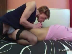 Mom with perfect body want to fuck german step-son ! free
