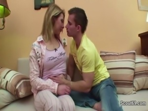 Step-Sister Seduce German Step-Brother to Fuck when Mom Away free