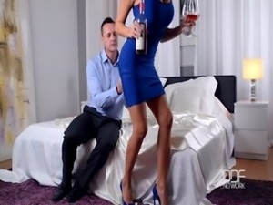 Busty European Sex Goddess gets Titty Fucked Hard free