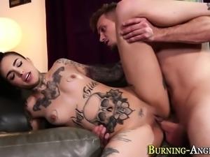 Hot goth slut tits cummed