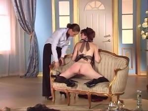Lesbian sexy maid