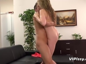 Piss fuck fun for gorgeous blonde babe