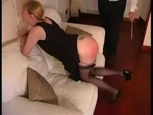 She get's a caning