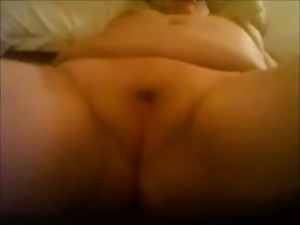 Fat Blonde BBW Ex-Girlfriend showering and masturbating
