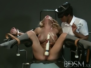 BDSM XXX Slave girl with massive breasts gets it hard