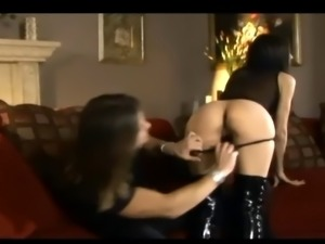 Busty babe Shy Love fucking in shiny black boots