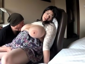 Fat asian with monster tits