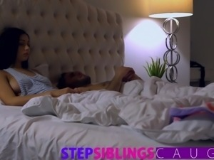 Sleeping sister gets pussy pounded and facial