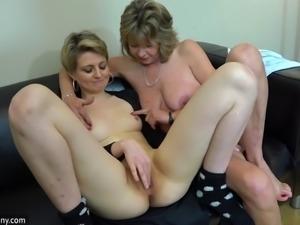 OldNanny lesbian couple crazy mature learn masturbate girl