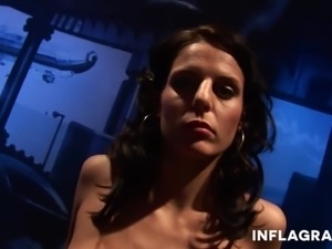 sexy milena gets pounded from a machine