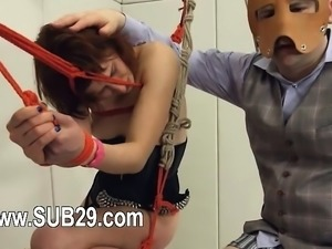 To much of rope and extreme BDSM submissive bang