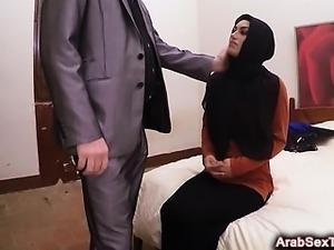 Dumb Arab girl screams while slapped in brutal grudge fuck