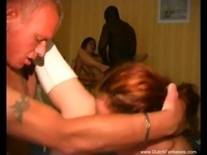 Dutch Gangbang Group Sex MILFs