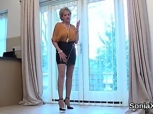 Unfaithful english mature gill ellis showcases her big boobi