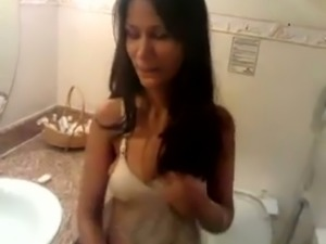 Cute and charming Indian girl pissing in front of me