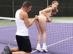 Magnificent schoolgirl rides the fat dick as passionately as she can