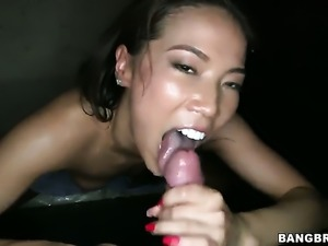 Blow job in a glory hole