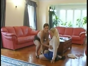 Missy And Babysitter Lou get down dirty