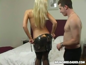 Sexy blonde sucks a cock like a pro and enjoys doggystyle sex