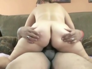 Fat and hairy dude gets blowjob and cock riding from busty whore