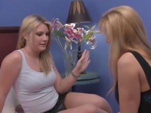 Nicole gives young blonde a good rogering