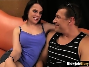 Black haired slut gives head in a bathroom stall