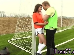 Mature lesbian seduces teen girl Dutch football player torn