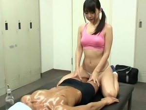 Great massage after a workout from this Japanese hottie