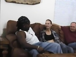 Sexy bitch likes dick that is black