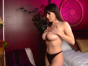 Dentist fucks a gorgeous big tits milf with a patient sleeping