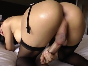 Perfect Shemale Shoves A Big Dildo Up Her Ass While She Jerks Off