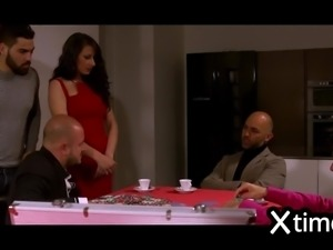 Italian Gang Bang Poker for a wife! LOOSING POKER & DIGNITY!