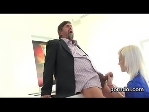 Erotic college girl is tempted and nailed by her older schoolteacher