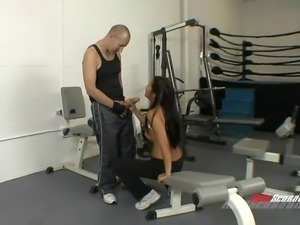 Hard fuck at gym in different positions