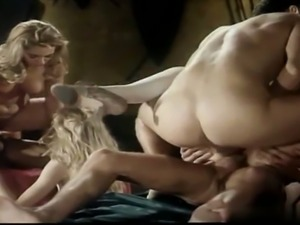 Awesome girls in anal orgy