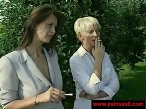 These nature loving lesbians love receiving oral sex
