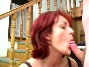 Busty Redhead Mature Nympho And Her Fucker In Hardcore Sex