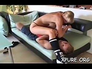 Sexy dominas take turns smothering a infirm guy