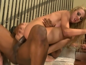 Adorable Blonde Chick With Big Tits Gets Wrecked In Interracial Sex