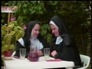 Nasty nun gets her butt spanked in a parody sex video